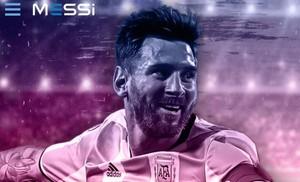 Captura de la nueva web de Leo Messi
