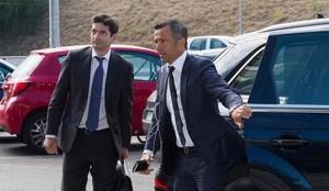 Jorge Mendez, a su llegada al juzgado