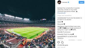 Messi celebró el 60º aniversario del Estadi
