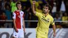Manu Trigueros, celebrando el primer gol amarillo