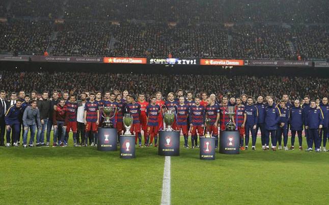 El FC Barcelona, camino del triplete