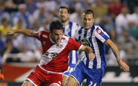 Deportivo y Rayo empataron a dos goles