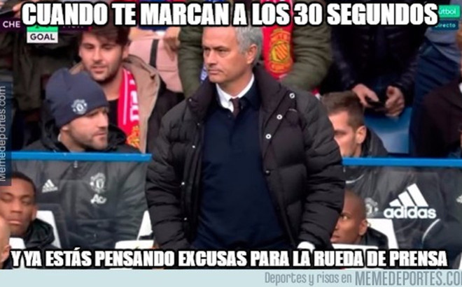 Las redes se cebaron con la humillaci�n que sufri� Mourinho.