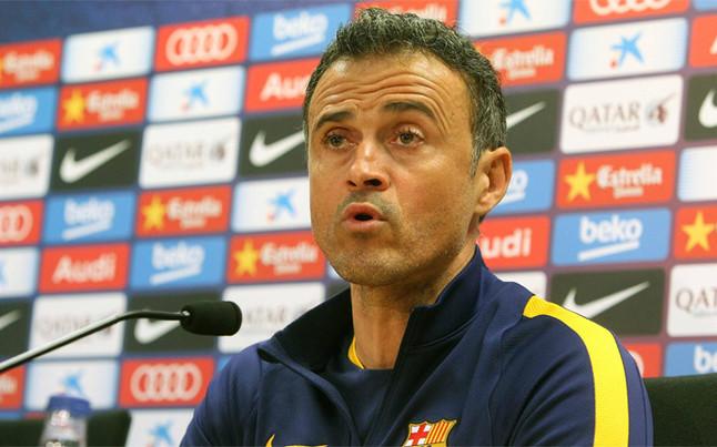 La rueda de prensa de Luis Enrique del FC Barcelona - Espanyol de Copa