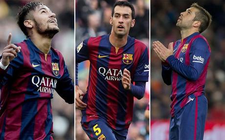 Neymar, Busquets, Alba, apercibidos de sanci�n