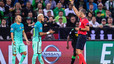 The insult Bar�a's Neymar hurled at the referee to earn him a yellow card