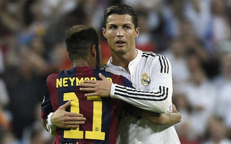 Neymar habl� de la sanci�n a Cristiano Ronaldo