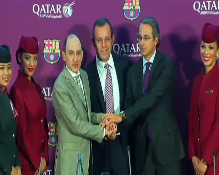 Bar�a y Qatar Airways: Un acuerdo por 100 millones