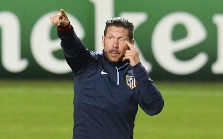 Simeone ultimar� el viernes la preparaci�n de su equipo para el duelo frente al M�laga