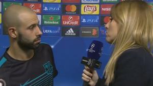 Mascherano respondió ante los micrófonos de Atresmedia, una de las televisiones con derechos de Champions