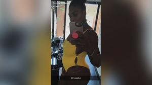 La imagen que Serena Williams ha colgado para anunciar su embarazo