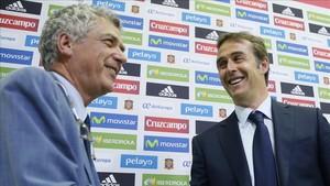 Ángel Maria Villar el día de la presentación de Julen Lopetegui como nuevo seleccionador de España
