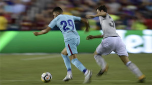 Munir debutó en pretemporada con Barça