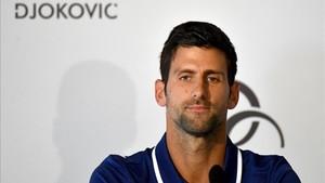 Novak Djokovic, retirado temporalmente por su lesión en el codo