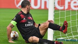 Bonucci durante un encuentro con el Milan