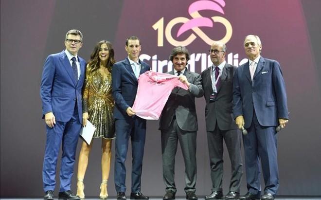 Momento de la presentaci�n del Giro de Italia 2017 este martes
