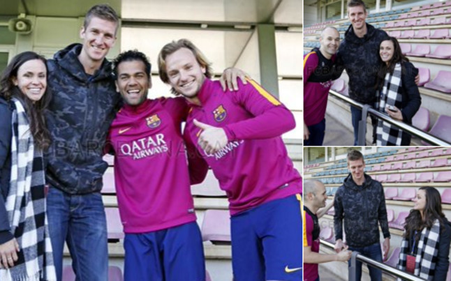 Doellman visita a los futbolistas del FC Barcelona