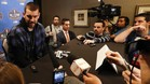 Marc Gasol atendiendo a los medios en el All Star de New Orleans