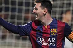 Messi celebrando uno de sus goles