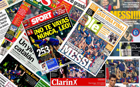 Messi, un récord de portada
