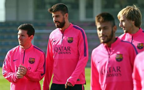Neymar vuelve a entrenarse con sus compa�eros antes del Bar�a-C�rdoba