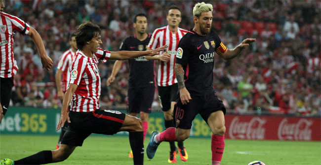 V�deo resumen Athletic Club - FC Barcelona. Jornada 2 Liga Santrander 2016-17