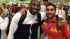Valero Rivera, con Kobe Bryant