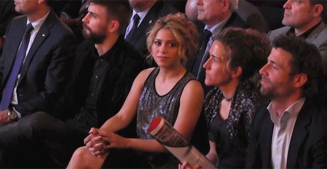 Shakira acompañó a Piqué a la Festa de lEsport Català