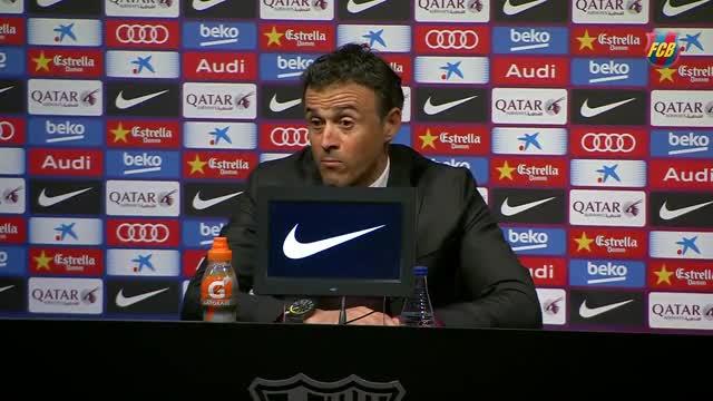 Luis Enrique: Lo mejor era que Luis Suárez no jugara