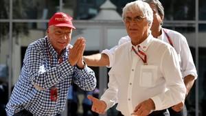Lauda ironiza ante Ecclestone, ¿le pide más dinero para Mercedes?