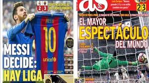Las portadas de la prensa deportiva de Madrid
