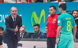 Andreu Plaza, indignado con los árbitros del segundo encuentro