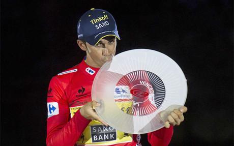 Contador, feliz por su triunfo