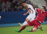 Dennis Suárez juega con España