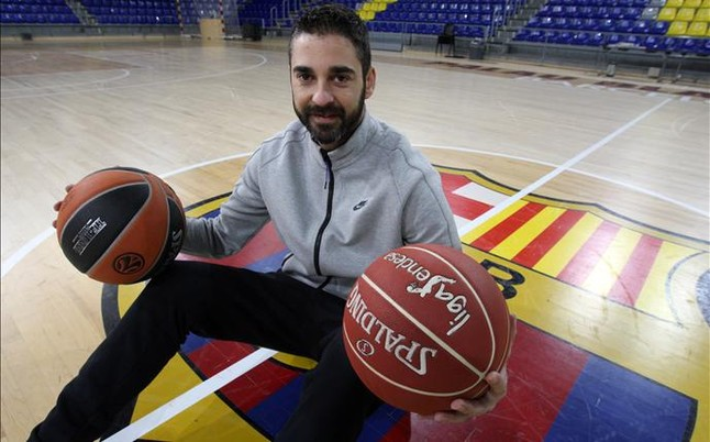 La 'Bomba' Navarro, el jugador ACB m�s fiel a una misma camiseta, la del Bar�a Lassa