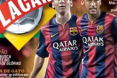 Messi y Neymar, protagonista de la portada de febrero de 'Placar'