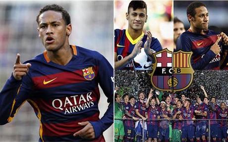 Neymar dice que el tridente del Barcelona merece copar el Bal�n de Oro