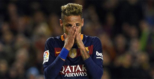 Neymar fall� su cuarto penalti esta temporada