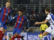 Neymar fue el mejor del Barça en el primer tiempo