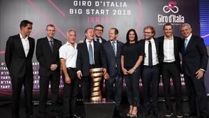 La presentación de la salida del Giro2018 en Israel fue muy mediática