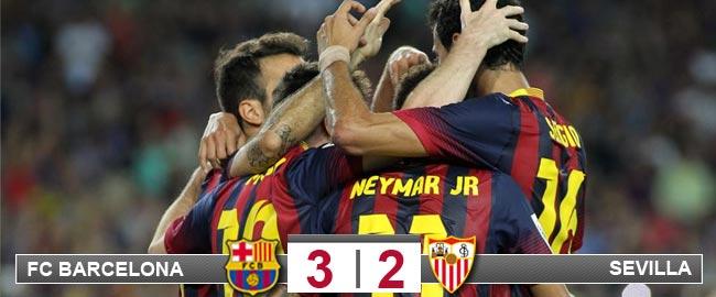 Neymar tira del carro y Alexis salva los muebles ante el Sevilla