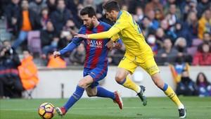 Messi, durante el partido ante la UD Las Palmas