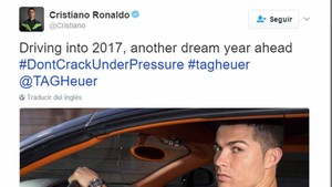 Un tuit de Cristiano Ronaldo es el mejor pagado
