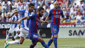 Mascherano sí estará contra el Sporting;Arda Turan, no