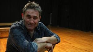 Sergi López en la sala de ensayo del teatro Poliorama de Barcelona