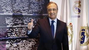 Florentino Pérez es el actual presidente del Real Madrid