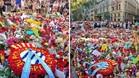 Ofrenda floral del Espanyol en recuerdo a las víctimas del atentado terrorista