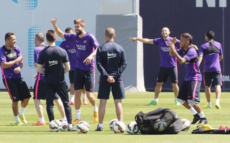 El Barcelona volvi� al trabajo