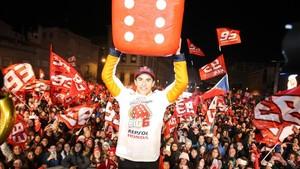 El Big Six de Márquez desató la euforia a lo bestia