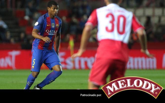 El central del filial Marlon fue de lo m�s destacado del Barcelona en el partido ante el Espanyol